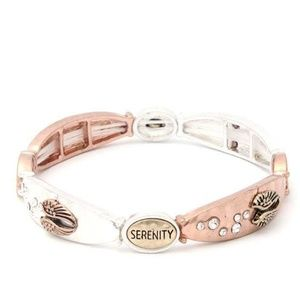 New Metal Serenity Stretch Band Bracelet